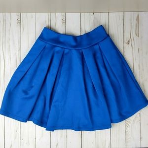 Royal blue swing/skater skirt pleated xs CR